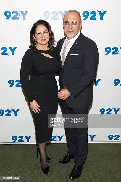 Gloria Estefan and Emilio Estefan attend Gloria and Emilio Estefan in Conversation with Rita Moreno at 92nd Street Y on October 19 2015 in New York...