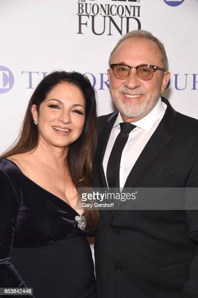 Gloria Estefan and Emilio Estefan attend the 32nd Annual Great Sports Legends dinner at New York Hilton Midtown on September 25 2017 in New York City
