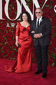 Gloria Estefan and Emilio Estefan attend the 70th Annual Tony Awards at The Beacon Theatre on June 12 2016 in New York City