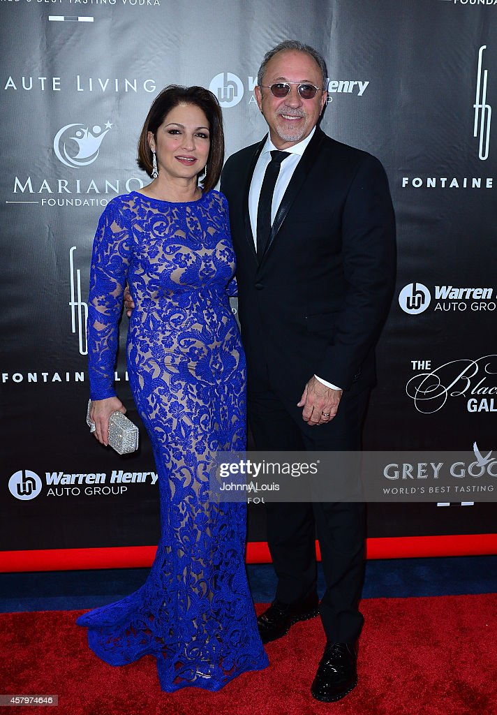 Gloria Estefan and Emilio Estefan attend The Blacks Annual Gala at Fontainebleau Miami Beach on October 25 2014 in Miami Beach Florida
