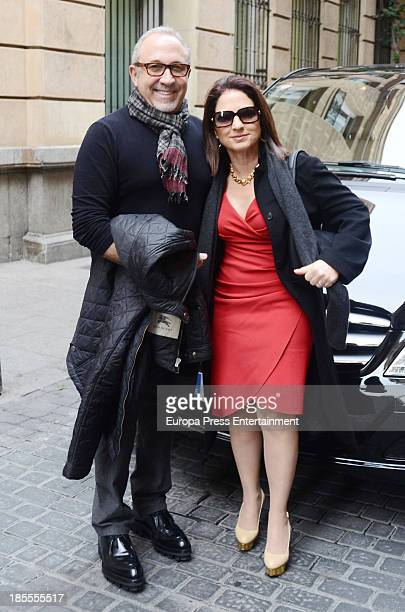Gloria Estefan and Emilio Stefan are seen leaving hotel on October 21 2013 in Madrid Spain