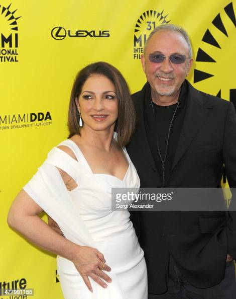 Gloria Estefan and Emillio Estefan attend the 'An Unbreakable Bond' premiere during the Miami International Film Festival 2014 at Gusman Center for...