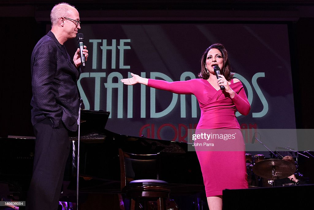 <a gi-track='captionPersonalityLinkClicked' href=/galleries/search?phrase=Gloria+Estefan&family=editorial&specificpeople=201703 ng-click='$event.stopPropagation()'>Gloria Estefan</a> and Shelly Berg perform at Festival Miami's 30th Anniversary Season Kick Off With <a gi-track='captionPersonalityLinkClicked' href=/galleries/search?phrase=Gloria+Estefan&family=editorial&specificpeople=201703 ng-click='$event.stopPropagation()'>Gloria Estefan</a> at Frost School of Music at the University of Miami Gusman Concert on October 1, 2013 in Coral Gables, Florida.