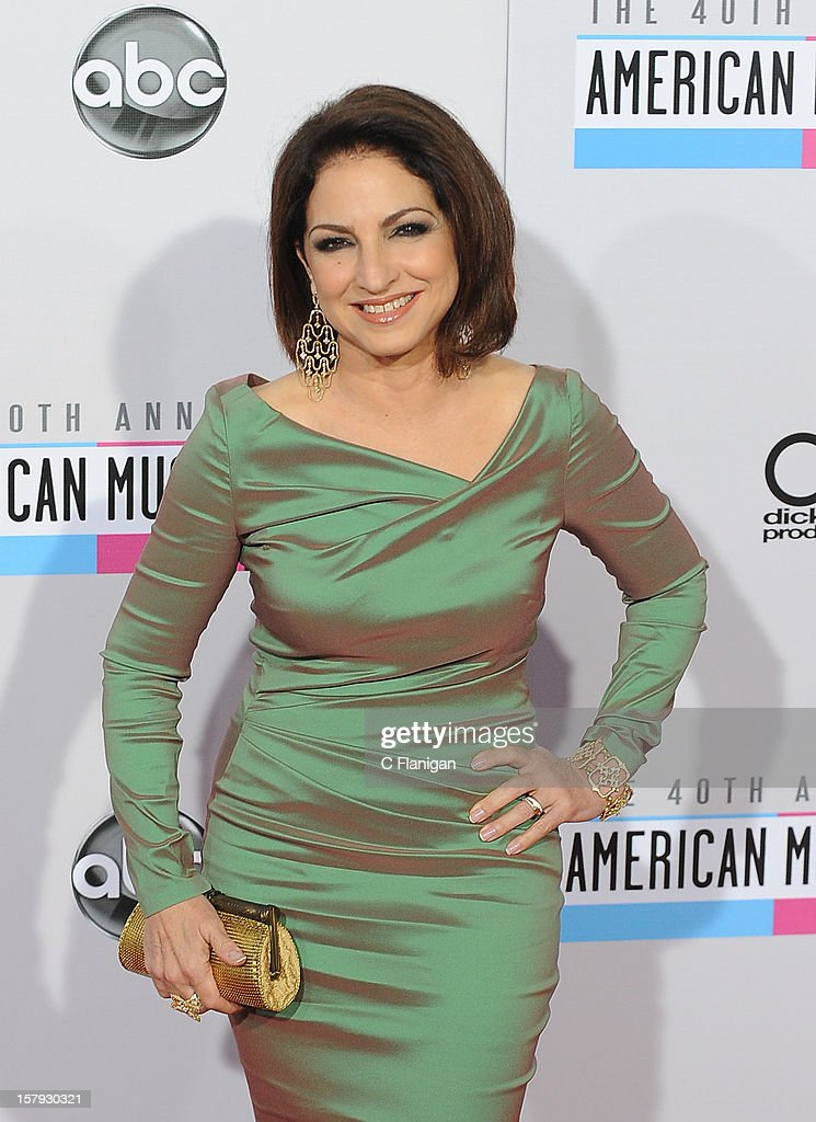 Gloria Estefan arrives at The 40th American Music Awards at Nokia Theatre L.A. Live on November 18, 2012 in Los Angeles, California.