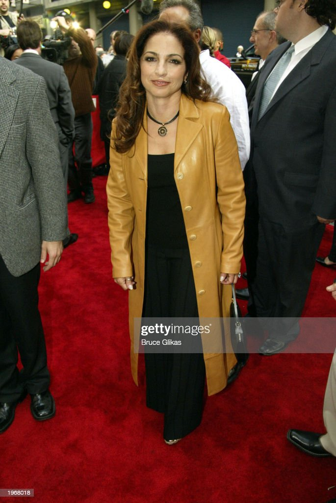 Gloria Estefan arrives at the opening night of 'Gypsy' on Broadway at The Shubert Theatre May 1, 2003 in New York City.
