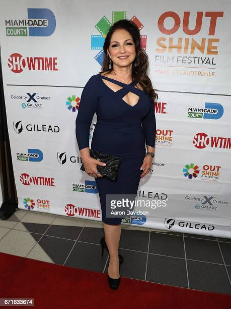 Gloria Estefan attends 'A Change of Heart' screening at Regal Cinemas South Beach Stadium 18 on April 22 2017 in Miami Florida