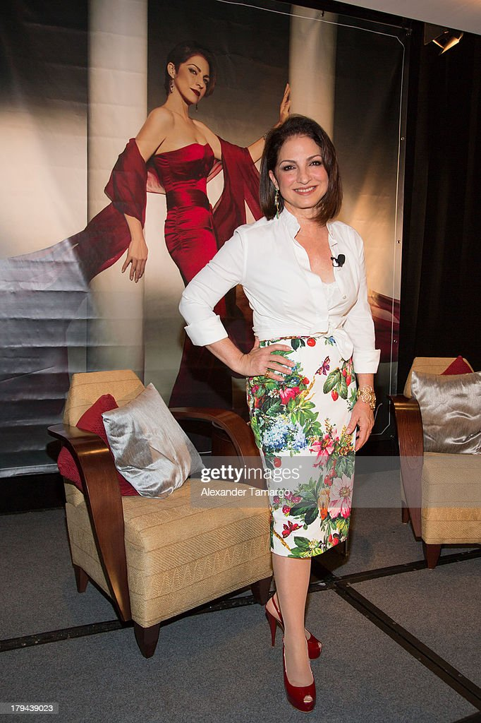 <a gi-track='captionPersonalityLinkClicked' href=/galleries/search?phrase=Gloria+Estefan&family=editorial&specificpeople=201703 ng-click='$event.stopPropagation()'>Gloria Estefan</a> attends a press conference announcing her new recording 'The Standards' at Mandarin Oriental on September 3, 2013 in Miami, Florida.