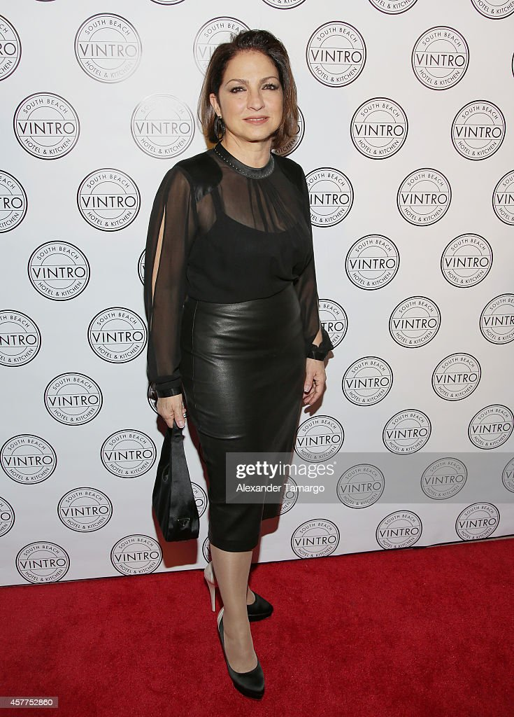<a gi-track='captionPersonalityLinkClicked' href=/galleries/search?phrase=Gloria+Estefan&family=editorial&specificpeople=201703 ng-click='$event.stopPropagation()'>Gloria Estefan</a> attends Cristina Saralegui's Book Launch at Vintro Hotel on October 23, 2014 in Miami, Florida.
