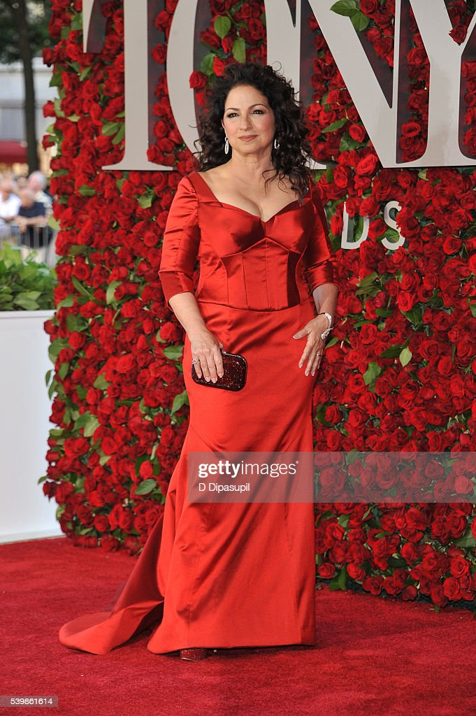 Gloria Estefan attends the 70th Annual Tony Awards at the Beacon Theatre on June 12 2016 in New York City
