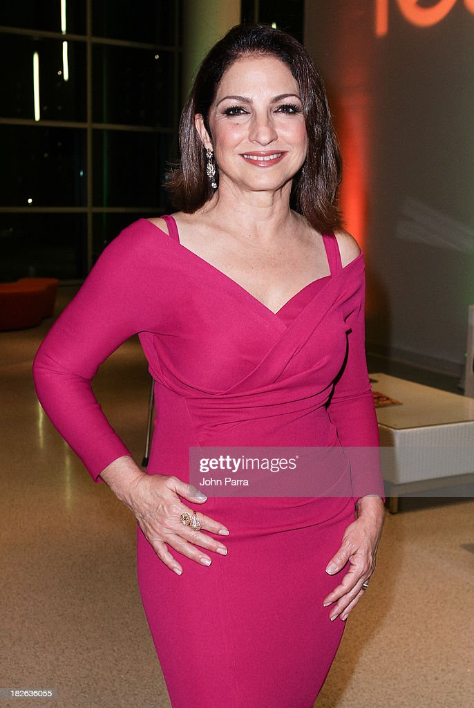 <a gi-track='captionPersonalityLinkClicked' href=/galleries/search?phrase=Gloria+Estefan&family=editorial&specificpeople=201703 ng-click='$event.stopPropagation()'>Gloria Estefan</a> backstage at Festival Miami's 30th Anniversary Season Kick Off With <a gi-track='captionPersonalityLinkClicked' href=/galleries/search?phrase=Gloria+Estefan&family=editorial&specificpeople=201703 ng-click='$event.stopPropagation()'>Gloria Estefan</a> at Frost School of Music at the University of Miami Gusman Concert on October 1, 2013 in Coral Gables, Florida.