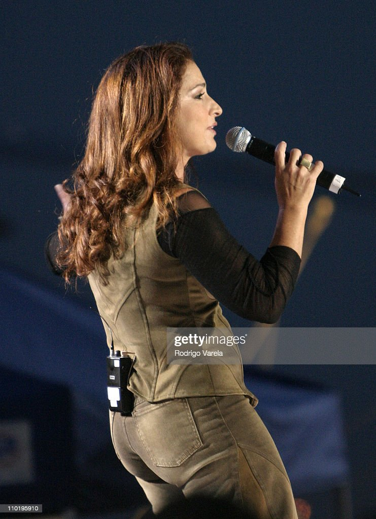 Gloria Estefan during 'A Tribute To Our Heroes' Concert at Naval Station Norfolk in Norfolk Virginia United States