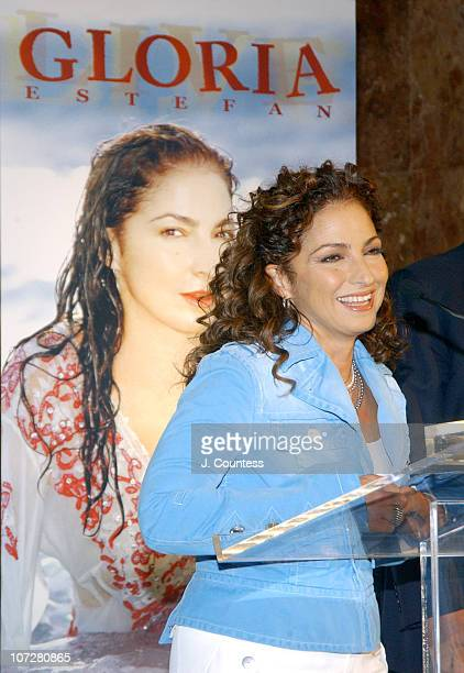Gloria Estefan during Gloria Estefan Announces her 'Live and ReWrapped' Final Concert Tour Summer 2004 at Trump Tower in New York City New York...