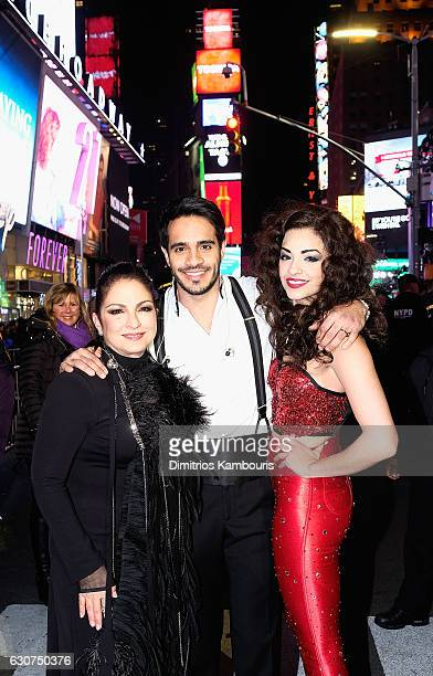 Gloria Estefan Ektor Rivera and Ana Villafane attend New Year's Eve 2017 in Times Square on December 31 2016 in New York City