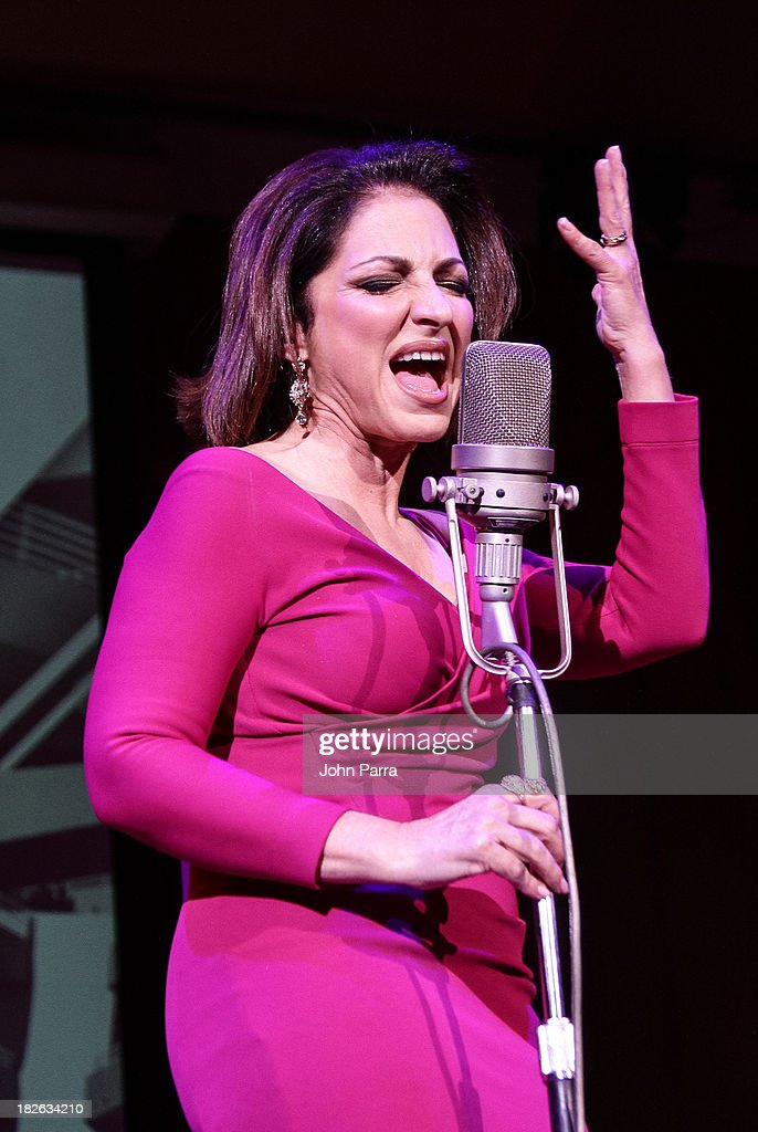 Gloria Estefan performs at Festival Miami's 30th Anniversary Season Kick Off With Gloria Estefan at Frost School of Music at the University of Miami Gusman Concert on October 1, 2013 in Coral Gables, Florida.