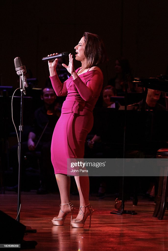 <a gi-track='captionPersonalityLinkClicked' href=/galleries/search?phrase=Gloria+Estefan&family=editorial&specificpeople=201703 ng-click='$event.stopPropagation()'>Gloria Estefan</a> performs at Festival Miami's 30th Anniversary Season Kick Off With <a gi-track='captionPersonalityLinkClicked' href=/galleries/search?phrase=Gloria+Estefan&family=editorial&specificpeople=201703 ng-click='$event.stopPropagation()'>Gloria Estefan</a> at Frost School of Music at the University of Miami Gusman Concert on October 1, 2013 in Coral Gables, Florida.