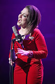 Gloria Estefan performs on stage at Royal Albert Hall on October 17 2013 in London England
