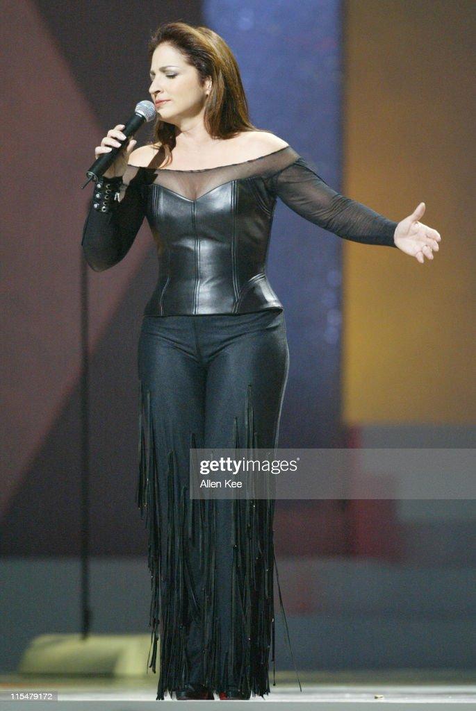 Gloria Estefan performs 'Tu Fotografia' during 2004 Billboard Latin Music Awards Show at The Miami Arena in Miami Florida United States