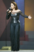 Gloria Estefan performs 'Tu Fotografia' during 2004 Billboard Latin Music Awards Show at The Miami Arena in Miami Florida United States