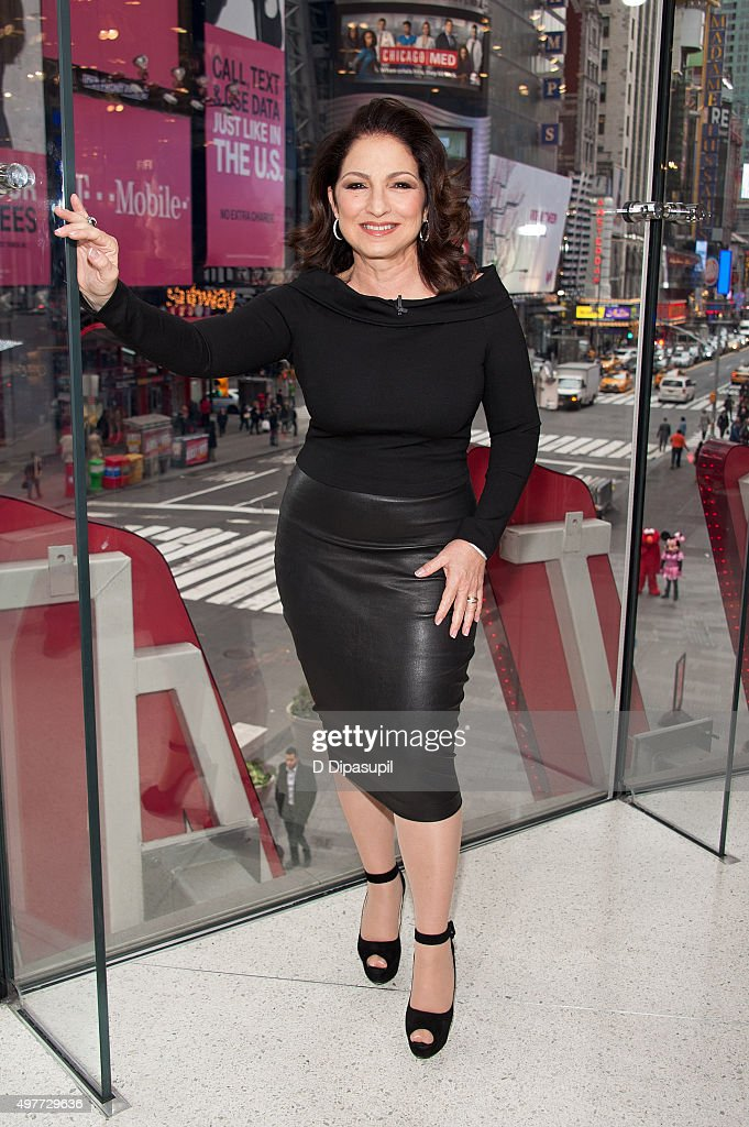Gloria Estefan visits 'Extra' at their New York Studios at H&M in Times Square on November 18, 2015 in New York City.