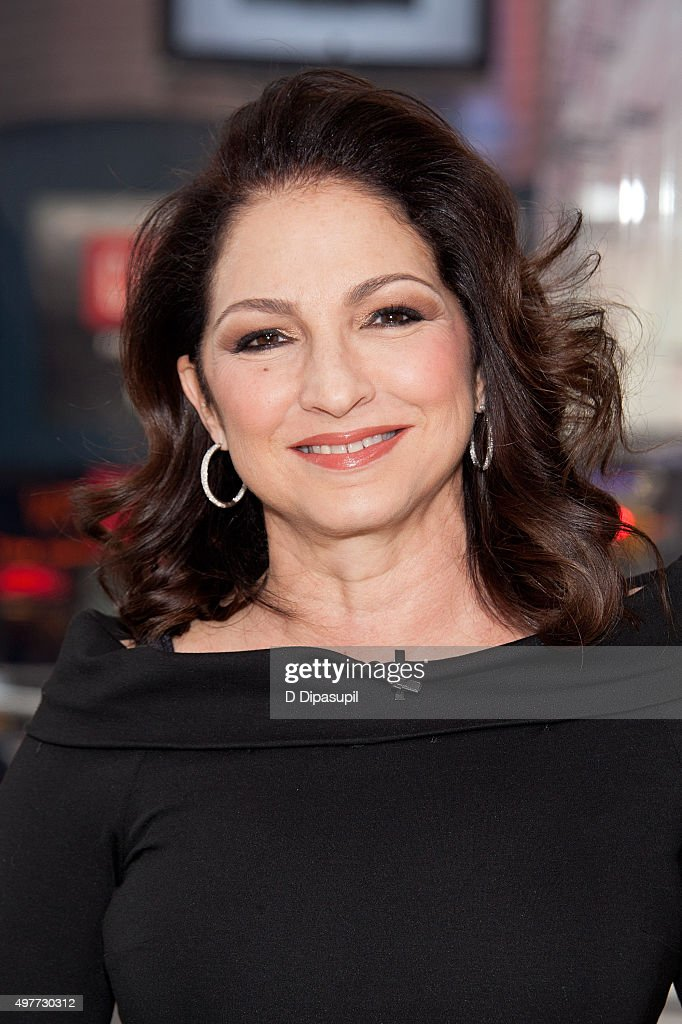 <a gi-track='captionPersonalityLinkClicked' href=/galleries/search?phrase=Gloria+Estefan&family=editorial&specificpeople=201703 ng-click='$event.stopPropagation()'>Gloria Estefan</a> visits 'Extra' at their New York Studios at H&M in Times Square on November 18, 2015 in New York City.