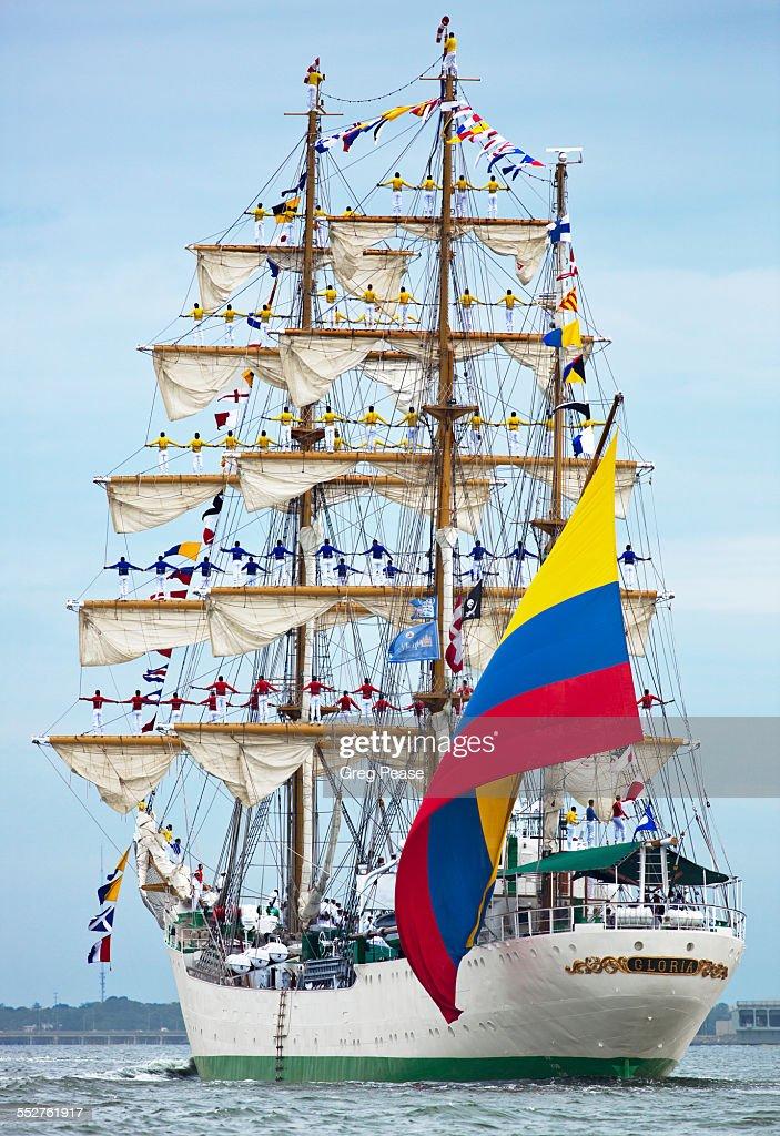 ARC Gloria Flag Ship of Columbia : Stock Photo