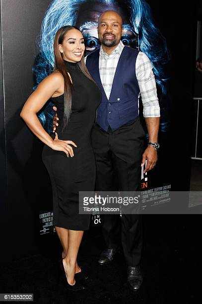 Gloria Govan and Derek Fisher attend the premiere of 'Boo A Madea Halloween' at ArcLight Cinemas Cinerama Dome on October 17 2016 in Hollywood...