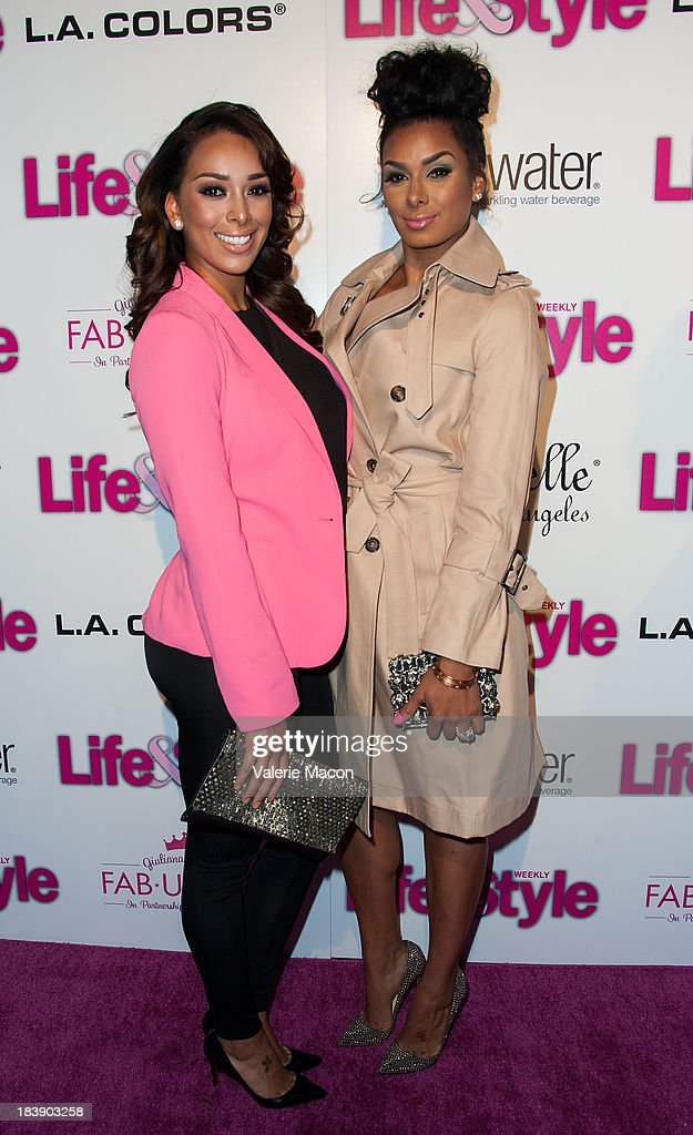 <a gi-track='captionPersonalityLinkClicked' href=/galleries/search?phrase=Gloria+Govan&family=editorial&specificpeople=7070564 ng-click='$event.stopPropagation()'>Gloria Govan</a> and Laura Govan arrives at Life & Style's Hollywood In Bright Pink Event Hosted By Giuliana Rancic at Bagatelle on October 9, 2013 in Los Angeles, California.