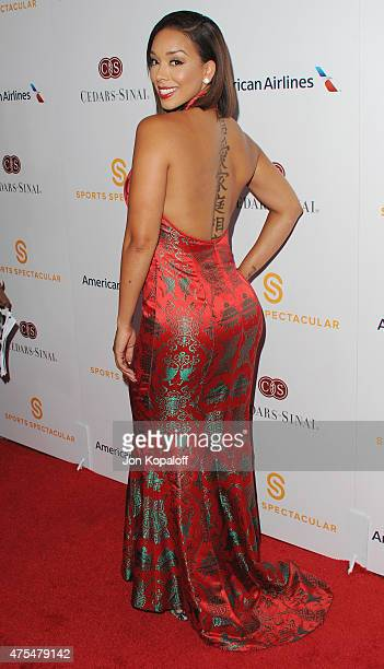 Gloria Govan arrives at CedarsSinai Sports Spectacular at the Hyatt Regency Century Plaza on May 31 2015 in Century City California
