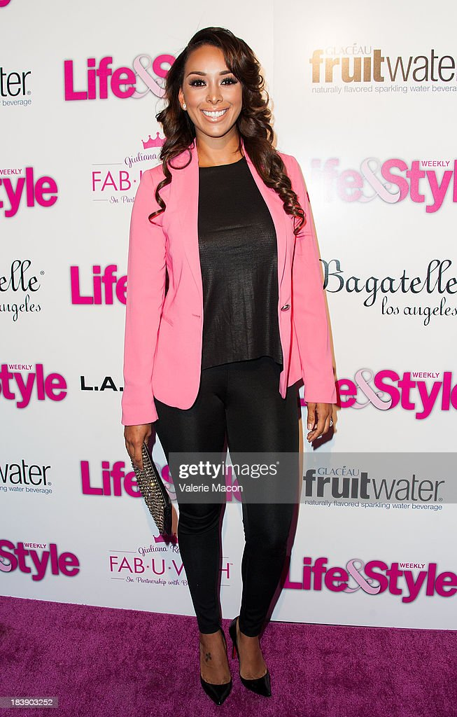 <a gi-track='captionPersonalityLinkClicked' href=/galleries/search?phrase=Gloria+Govan&family=editorial&specificpeople=7070564 ng-click='$event.stopPropagation()'>Gloria Govan</a> arrives at Life & Style's Hollywood In Bright Pink Event Hosted By Giuliana Rancic at Bagatelle on October 9, 2013 in Los Angeles, California.
