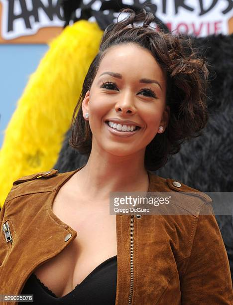 Gloria Govan arrives at the premiere of Sony Pictures' 'The Angry Birds Movie' at Regency Village Theatre on May 7 2016 in Westwood California