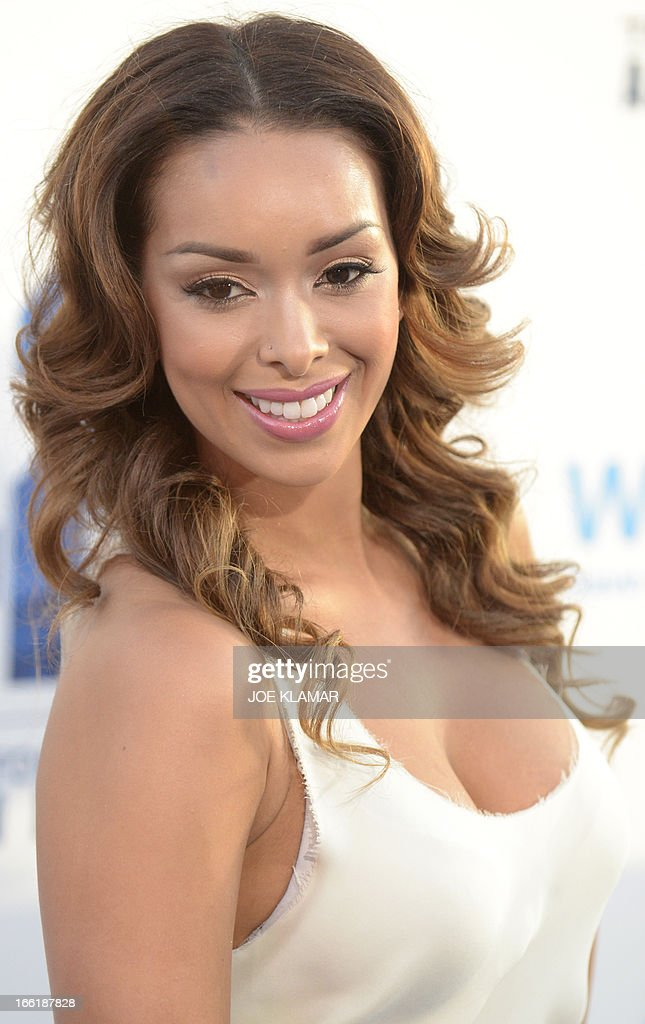 Gloria Govan, wife of Los Angeles Clippers basketball player Matt Barnes, attends the Los Angeles Premiere of Warner Bros. Pictures' and Legendary Pictures' '42' at TCL Chinese Theatre on April 9, 2013 in Hollywood, California.
