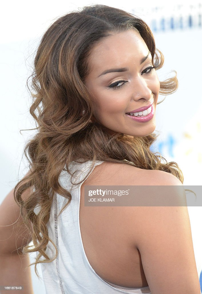 Gloria Govan,wife of Los Angeles Clippers basketball player Matt Barnes, attends the Los Angeles Premiere of Warner Bros. Pictures' and Legendary Pictures' '42' at TCL Chinese Theatre on April 9, 2013 in Hollywood, California. AFP PHOTO / JOE KLAMAR