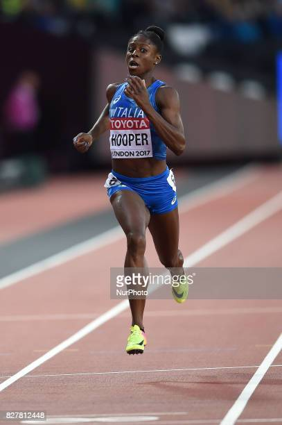 Gloria HOOPER of Italy during 200 meter heats in London at the 2017 IAAF World Championships athletics on August 8 2017