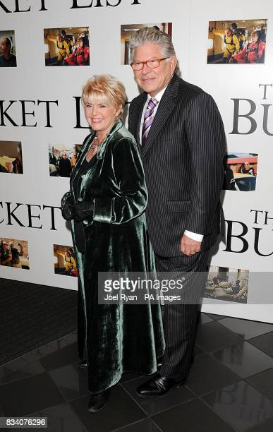 Gloria Hunniford and husband Stephen Way arrive for the UK Premiere of The Bucket List at the Vue West End London