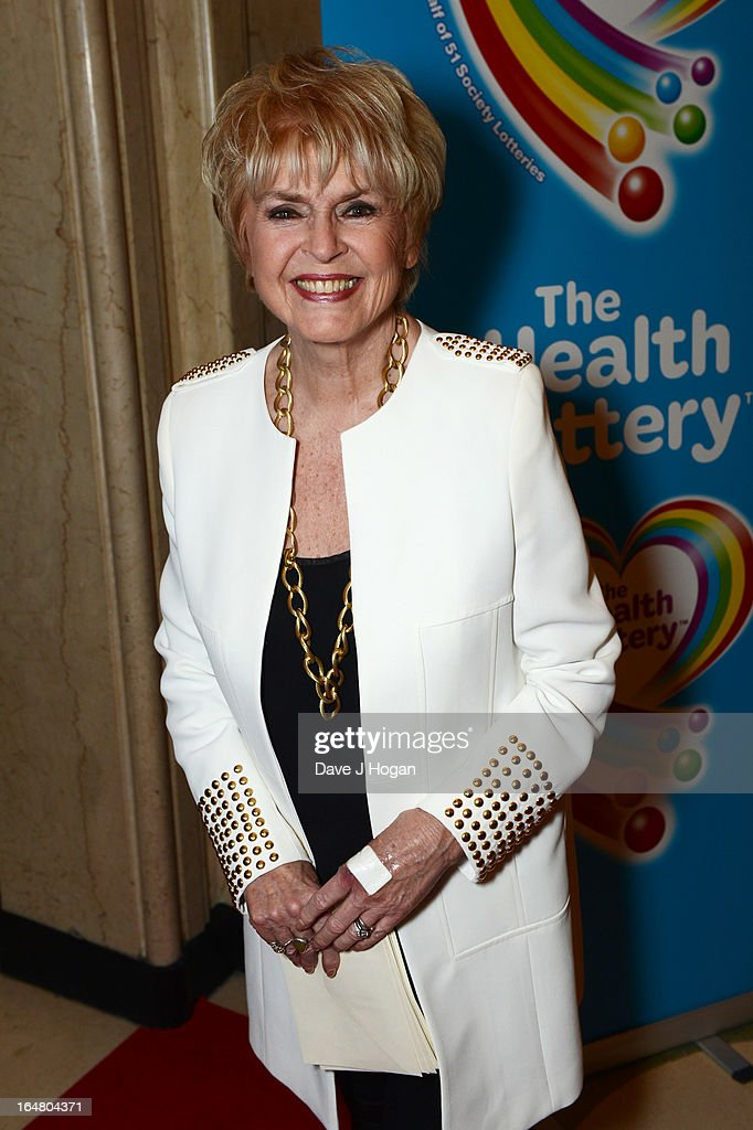 Gloria Hunniford attends the Health Lottery champagne tea at Claridges on March 28, 2013 in London, England.