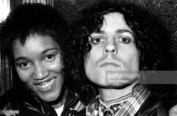 Gloria Jones and Marc Bolan at Music Machine in London 1976