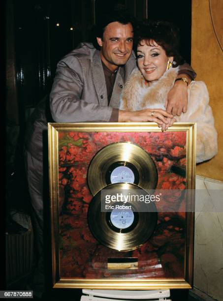 Gloria Lasso and Husband with Gold Records