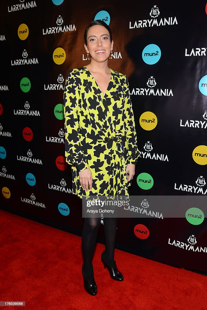 Gloria Medel attends 'Larrymania' Season 2 Premiere Launch Party at SupperClub Los Angeles on August 14, 2013 in Los Angeles, California.