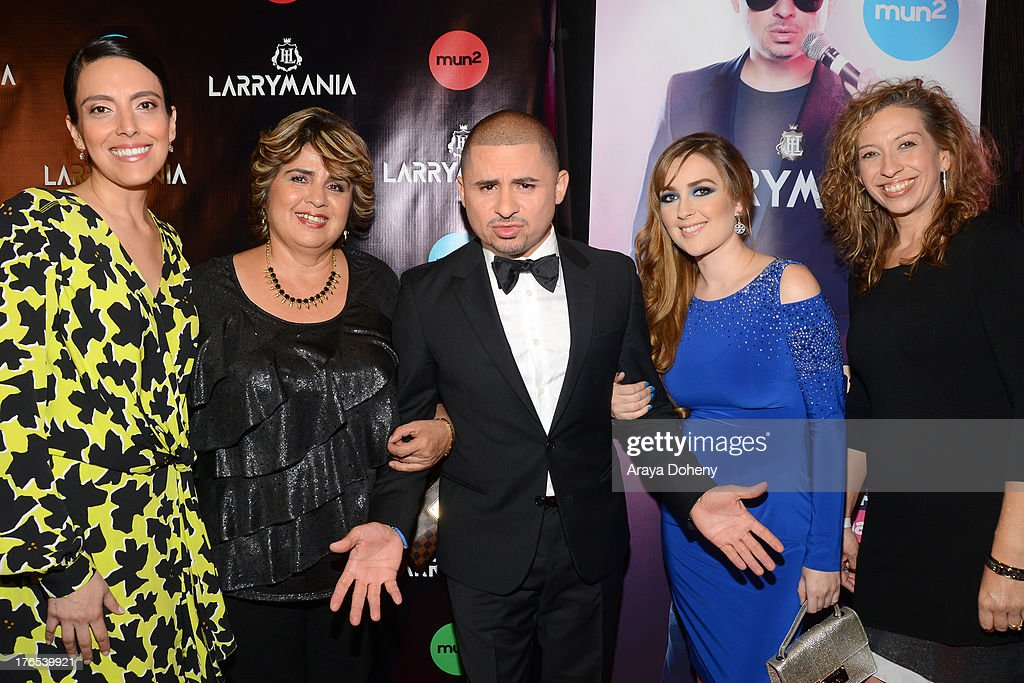 Gloria Medel, Manuela Ceniceros, <a gi-track='captionPersonalityLinkClicked' href=/galleries/search?phrase=Larry+Hernandez&family=editorial&specificpeople=6918528 ng-click='$event.stopPropagation()'>Larry Hernandez</a>, Kenia Ontiveros and Diana Mogollon attend 'Larrymania' Season 2 Premiere Launch Party at SupperClub Los Angeles on August 14, 2013 in Los Angeles, California.