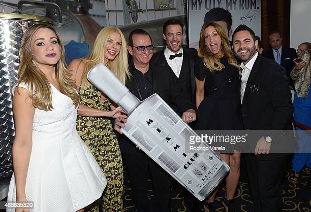 Gloria Ordaz Alexia Echevarria Herman Echevarria William Levy Lili Estefan and Enrique Santos attend the Miami Club Rum Official Partnership Launch...