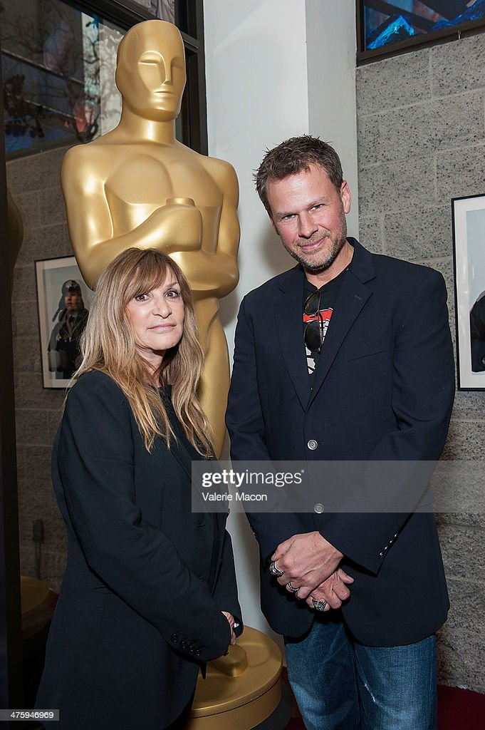 Gloria Pasqua-Casny (L) and Joel Harlow attend the 86th Annual Academy Awards Oscar Week Celebrates Makeup And Hairstyling Oscar-Nominated Films at AMPAS Samuel Goldwyn Theater on March 1, 2014 in Beverly Hills, California.