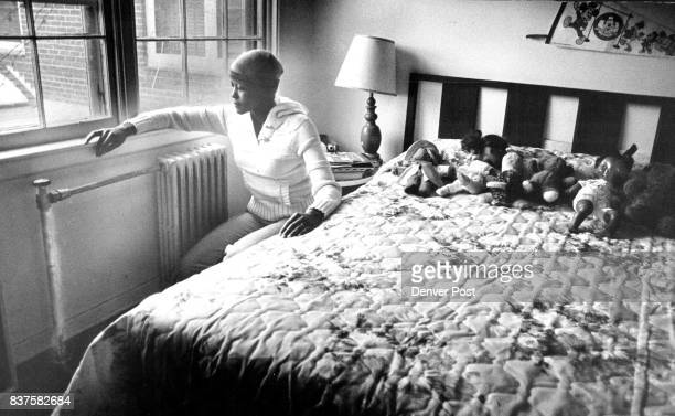 Gloria Phillips in bedroom of her 7yr old daughter 2827 Jasmine Credit Denver Post
