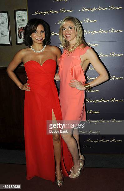 Gloria Reuben and Debbie Gibson at Gloria Reuben's 'Perchance To Dream' Album Release Party at Metropolitan Room on April 9 2015 in New York City