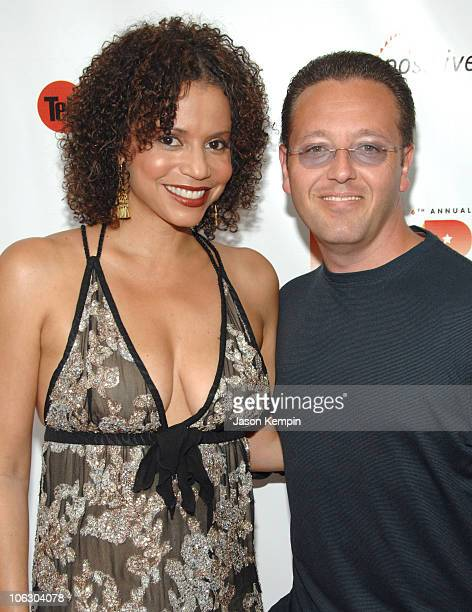 Gloria Reuben and John Edward during The 6th Annual Cable Positive Pop Awards June 12 2007 at IFC Film Center in New York City New York United States