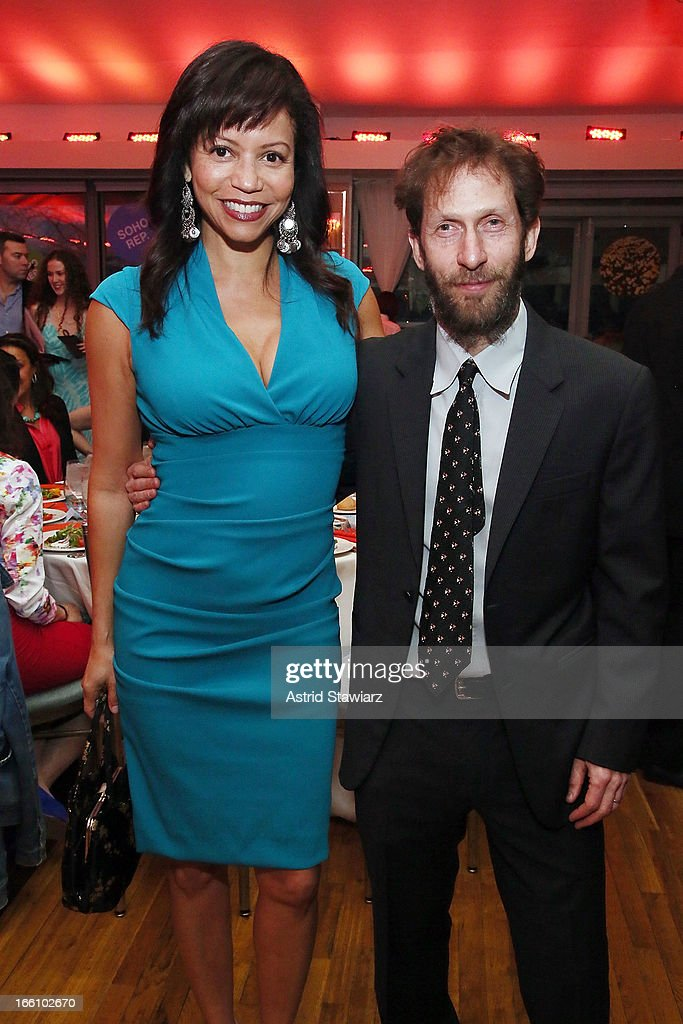 Gloria Reuben and Tim Blake Nelson attend the Cocktail Reception at Soho Rep's 2013 Spring Gala on April 8, 2013 in New York, United States.