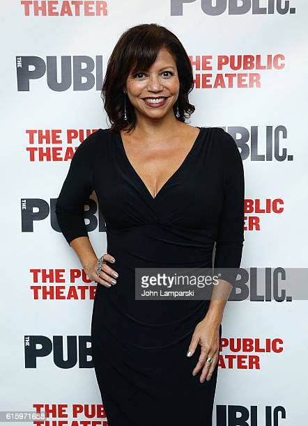 Gloria Reuben attends 'Plenty' opening night celebration at The Public Theater on October 20 2016 in New York City