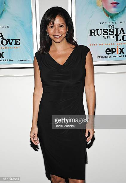 Gloria Reuben attends the 'To Russia With Love' New York Premiere at The Paramount Screening Room on October 22 2014 in New York City