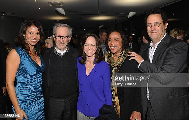 Gloria Reuben Director Steven Spielberg Sally Field S Epatha Merkerson and Tony Kushner attend NYFF 50th Anniversary surprise screening of Lincoln at...