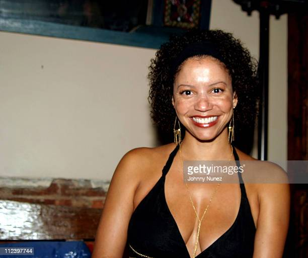 Gloria Reuben during Bacardi Razz Presents The New Life Project Launch Party at Mobilia in New York City New York United States