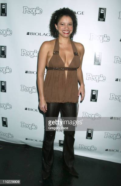 Gloria Reuben during People Magazine Presents Tapestry of Entertainers Coming Together to Benefit the Drama Dept at Lot 61 in New York City New York...